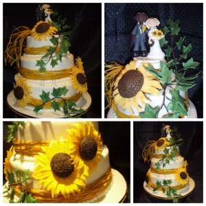 sunflowers-wedding-cake-3-tier-bride-and-groom-topper-raffah-straw-ribbon