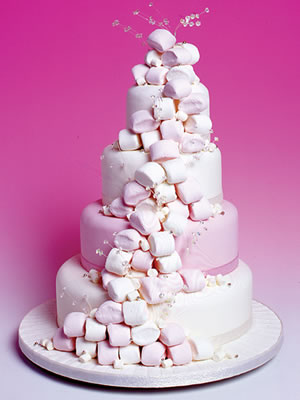 Marshmallow 4 tier wedding cake