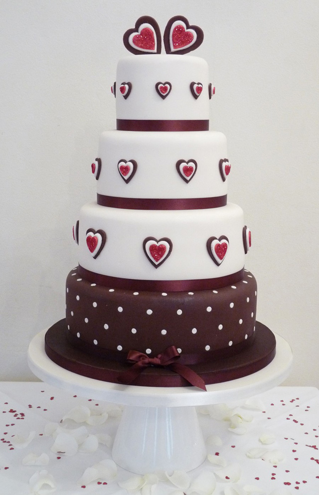 The top 10 best unusual wedding cake designs bride of colour four tier pink and brown wedding cake by planet cake uk junglespirit Choice Image