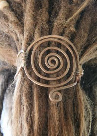 spiral head dread Wedding Hair Inspiration: Dreads and Locks