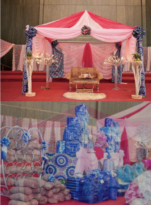 Traditional Nigerian Wedding Ceremony Venue Styling