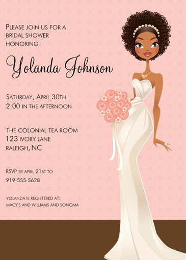 Jade bridal shower invitation by Sweet Berry Lane .