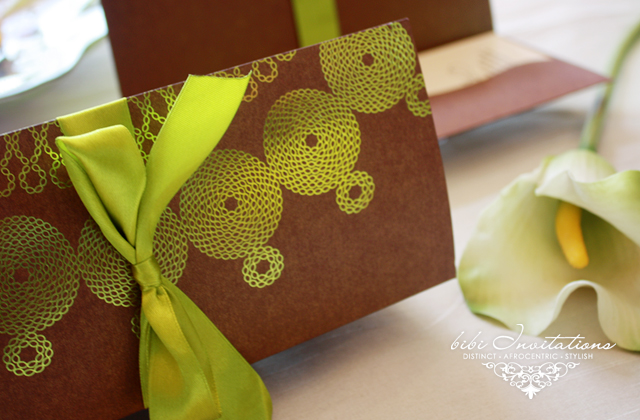 African Traditional Wedding Invitations abena Collection Stylish